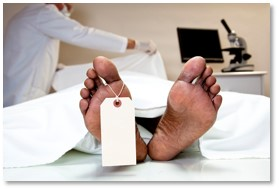 body at autopsy, autopsy table, medical examiner, toe tag