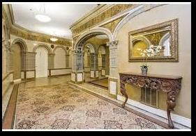 Charlesgate lobby, ornamental tile, J. Pickering Putnam