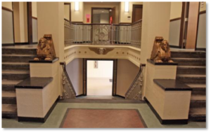 Southern Mortuary, Egyptian Revival lobby, Boston Health Care for the Homeless