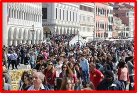Piazza San Marco, Venice, crowds, tourists