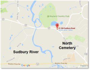 Map of 91 Old Sudbury Road