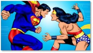 Superman, Wonder Woman, superior upper body strength