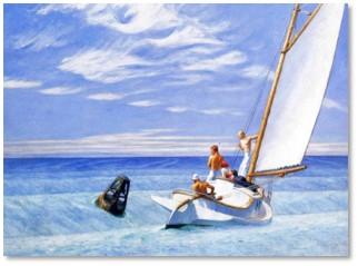 Winslow Homer, Ground Swell, ocean swell, gender privilege