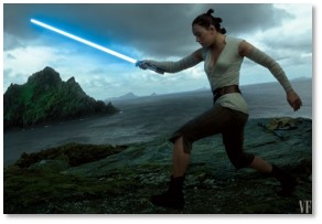 Star Wars: The Last Jedi, Rey, light saber, Luke Skywalker