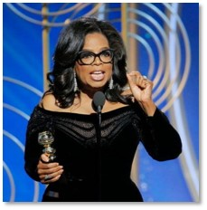 Oprah Winfrey, Golden Globe Awards, It's Time
