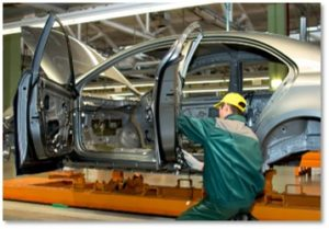 automobile production line, automation, automotive worker, manufacturing