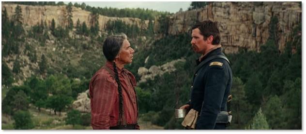 Hostiles, Christian Bale, Wes Studi, Cheyenne