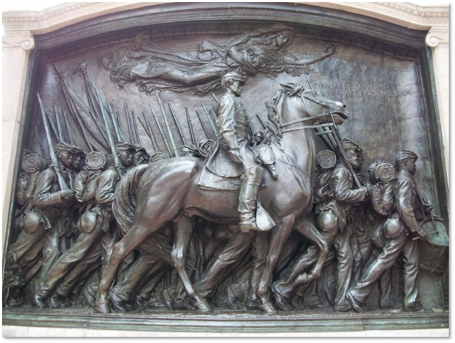 Robert Gould Shaw Memorial, Beacon Hill, Augustus St. Gaudens, 54th Massachusetts Volunteer Infantry