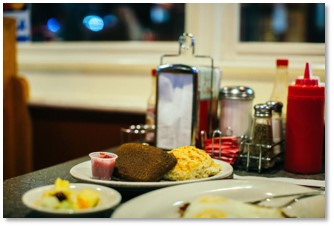 Down Home Diner, scrapple and eggs, Superbowl wager, Tom Wolf