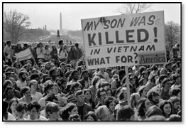 Vietnam war protest rally, change