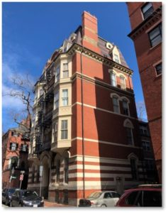 Benedict Chambers, Spruce Street, Beacon Hill, Nathaniel J. Bradlee