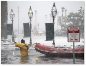 Boston Seaport, flooding, nor'easter, winter storm Quinn