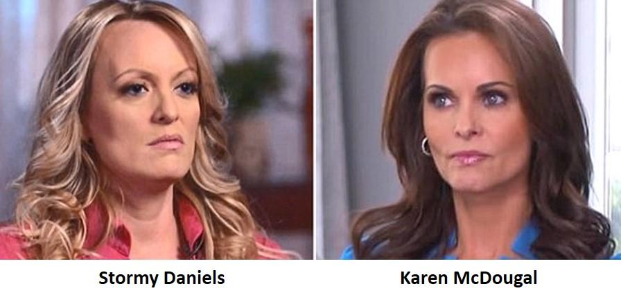 Stormy Daniels, Karen McDougal, Donald Trump