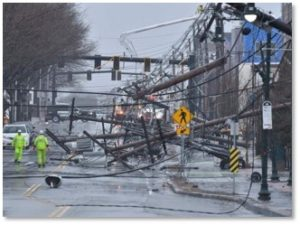 Arsenal Street, Watertown, power line damage