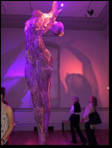 Burning Man, statue of woman, Renwick Gallery