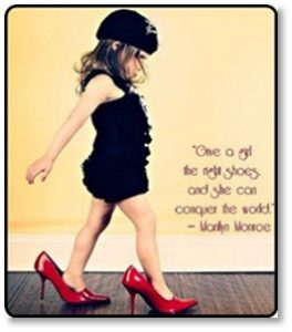 Marilyn Monroe, Give a girl the right shoes and she can conquer the world, stiletto, high heels