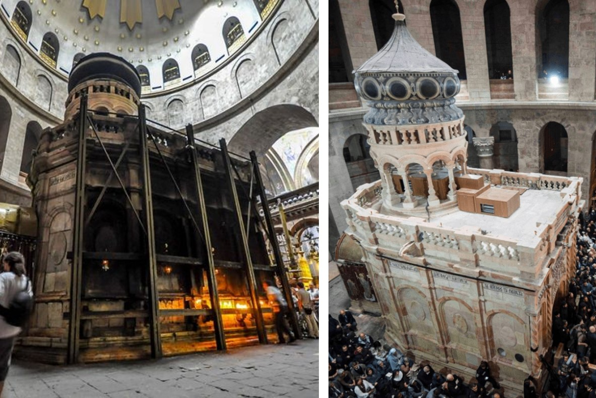 Holy Edicule, Church of the Holy Sepulchre, Jerusalem, National Geographic Museum, Tomb of Christ