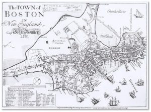 Capt. John Bonner, Map of Boston, Washington Street