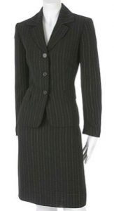 dress for success, conservative suit, business suit,
