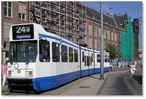 Amseterdam tram, public transportation