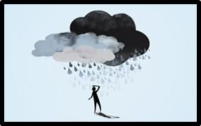cloud, depression, rain, sadness, suicide