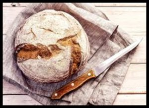 Bread, crusty loaf, home-baked bread