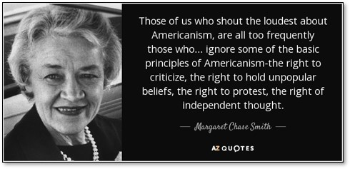 Margaret Chase-Smith, Declaration of Conscience, Four Horsemen of Calumny, Joseph McCarthy