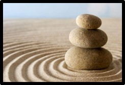 zen garden, stones, meditation