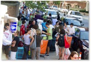 Move-In Day, Boston University, Boston, Storrow Drive