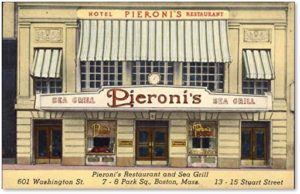 Pieroni's Hotel, Park Square, Boston, Giuseppe Pieroni