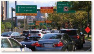 Storrow Drive, Boston, Traffic Jam, Getting Storrowed, low clearance, moving van