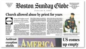 Boston Globe, Spotlight Team, priest abuse, pedophiles, pedophilia