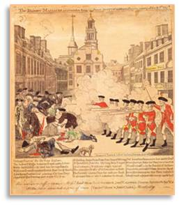The Boston Massacre, Paul Revere, Old State House, Boston by Foot
