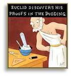 The Proof is in the Pudding, Archimedes, cartoon