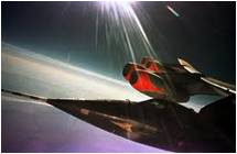 space plane, atmosphere, pushing the edge of the envelope