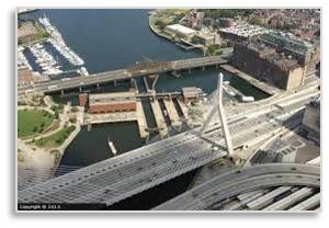 Charles River, Boston, Dam and lock system