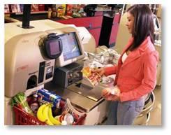 Self checkout, bar code, supermarket checkout