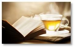 cup of tea, book, tea, relax