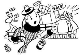 Holiday shopping, sale, HallowThanksMas