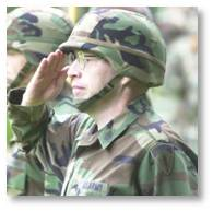 Soldier saluting, top enlisted officer in Europe