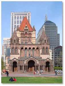 Copley Square, Trinity Church, Boston