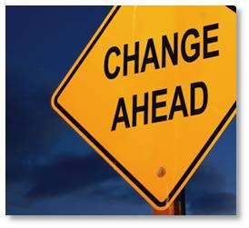 Change Ahead Road Sign