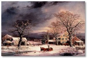 Durrie, New England winter,