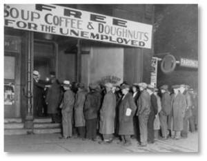 Great Depression, soup line