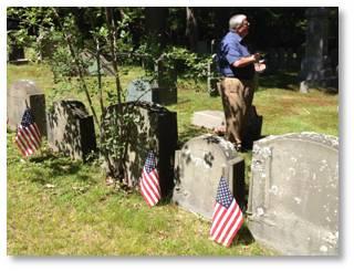 Anthony Sammarco, Baker family plot, Milton Cemetery