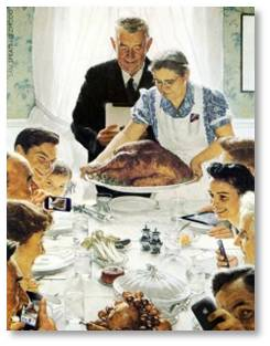 Norman Rockwell, Freedom from Hunger, the Four Freedoms, illustration