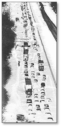 Blizzard of 78, Blizzard of 1978, Route 128