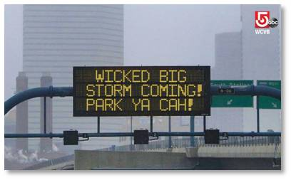 Wicked Big Storm Coming! Park Ya Cah! Winter Storm Juno, Parking Restrictions