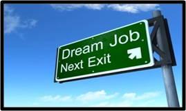 dream job next exit, dream job road sign