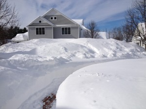 My front yard in Massachusetts after 54 inches of snow